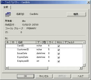 画面6 CardInfoのプロパティを表示したところ(画面をクリックすると拡大表示します)