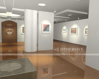 床の鏡面反射の美しい室内の映像