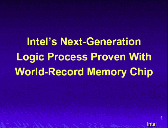 90nmプロセスに関するIntelのプレゼンテーション資料