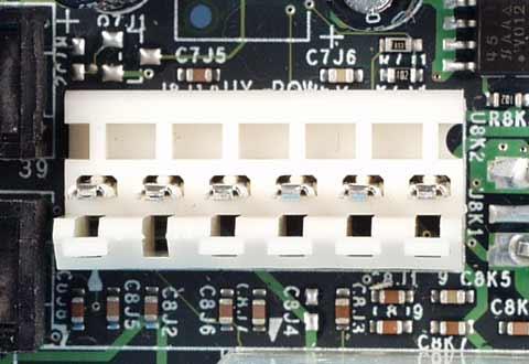 マザーボードに搭載されているATX補助電源コネクタ