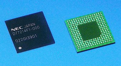 日本電気のMPEG-4チップ「μPD77214」