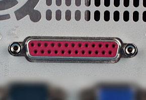 パラレルポート(PC側)の機器側コネクタ