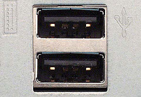 USB(スタンダードA)の周辺機器側コネクタ