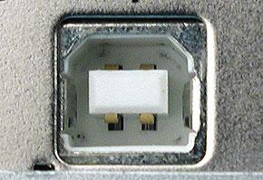 USB(スタンダードB)の周辺機器側コネクタ