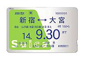 JR東日本が導入したICカードによる定期券/プリペイド型カード