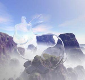 NVIDIA Cg(C for graphics)で質感を記述したシャボン玉風の物体