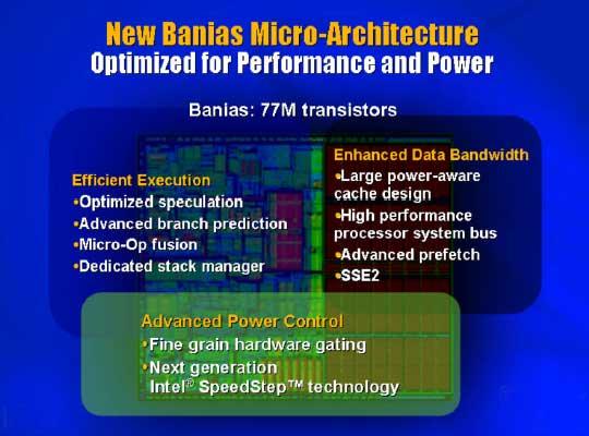 Baniasが採用する低消費電力化の技術