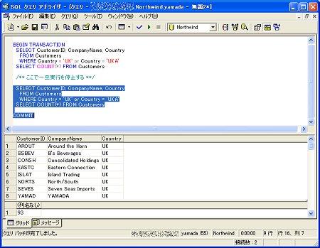 画面6 ロック部分は実行待ちに(画面をクリックすると拡大表示します)