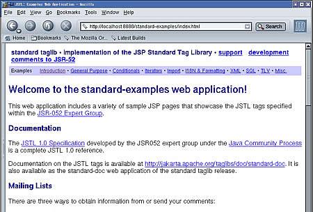 画面1 Examples Web Applicationのトップページ