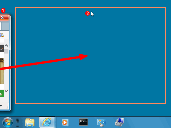 画面外のウィンドウをデスクトップ上に戻す(その2)