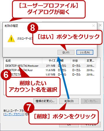 ユーザープロファイル情報の表示と削除(4)