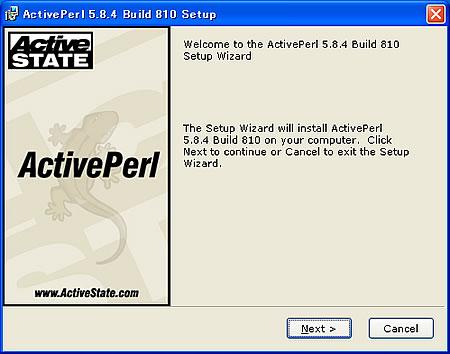 ActivePerlのインストーラ