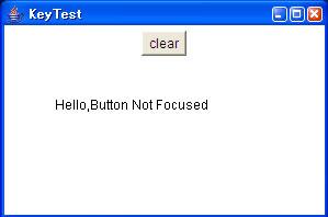 画面2 最初だけはKeyTestがフォーカスされており入力が可能