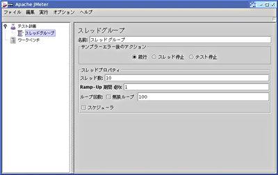 画面1 スレッドグループの設定(画面をクリックすると拡大します)