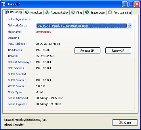 画面10 HoverIPの起動画面