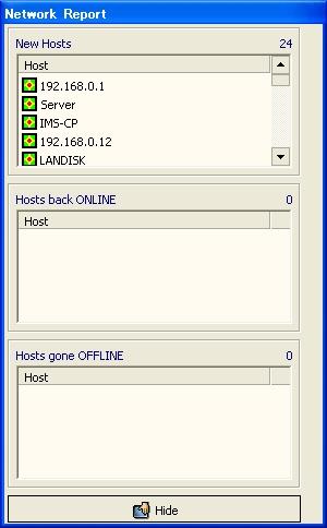 画面4 ネットワーク内のホスト調査を開始