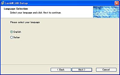 画面2 言語を選択する