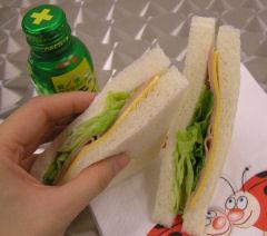 写真3 残念ながら買いに行った時間帯には白いパンしかありませんでした。レモンジュースですが、写真のものでも果汁30%。少ないのでもっと多いものを選ぼう