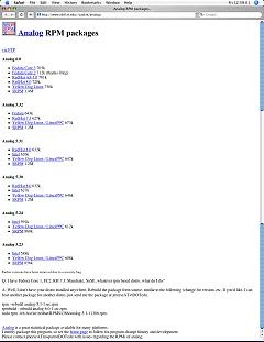 画面2 Linux向けAnalogがダウンロードできる