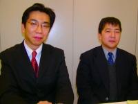 コンサルの力を借りずに自力で取得した監査役・小杉定久氏(右)と、現在Pマーク担当のカレン・経営管理室室長・黒岩和好氏(左)