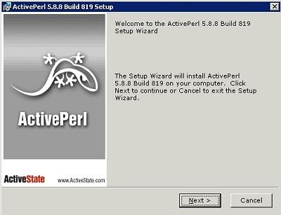 画面4-1 ActivePerlのインストールは、指示に従っていくだけ