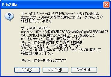画面11 初回のファイルアクセスでのダイアログ