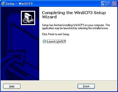 画面20 チェックを入れたまま終了すると、WinSCP3が起動する