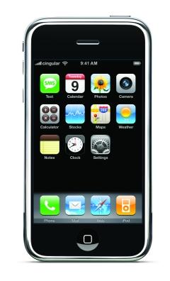 写真1 衝撃を与えた携帯電話「iPhone」