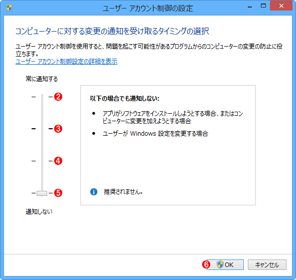 Windows 8.x�^Server 2012�^R2�ŃR���g���[���p�l������UAC�@�\�i�̈ꕔ�j����i����2�j
