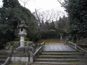 法輪寺境内の入り口付近