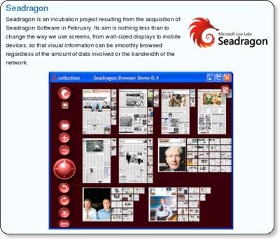 Microsoft Live Labs - Seadragon