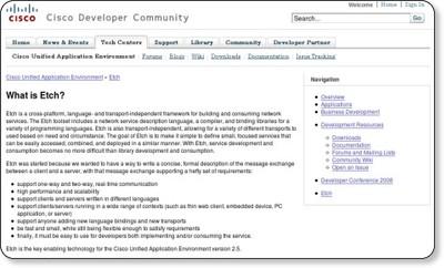 Cisco Developer Community - Etch