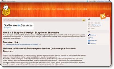 softwareplusservicesblueprints   Channel 9
