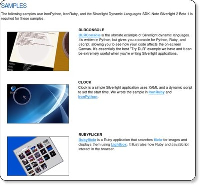 Dynamic Languages : The Official Microsoft Silverlight Site