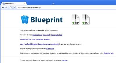 CSSフレームワークのBlueprint