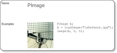 PImage Language (API) Processing 1.0 (BETA) via kwout