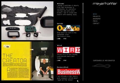 トーマス・マイヤー・ホファー氏のWebサイト。Chumbyをはじめ、これまで手掛けた製品などが掲載されている。