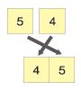 左側の5と4を比較し、小さい4を先に、次に残った5を付け加える