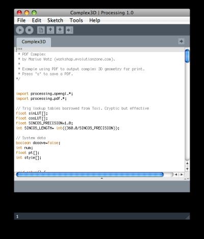ベクタデータの読み込みが標準サポートされたProcessing 1.0