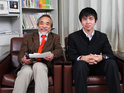「尊敬している竹内先生にお会いできてうれしい」と林氏
