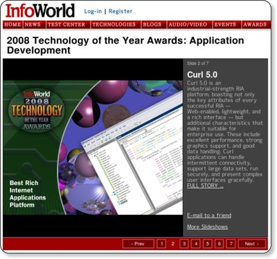2008 Technology of the Year Awards: Application Development Slide: 2
