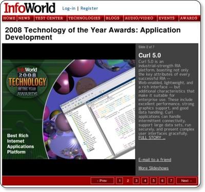 2008 Technology of the Year Awards: Application Development Slide: 2