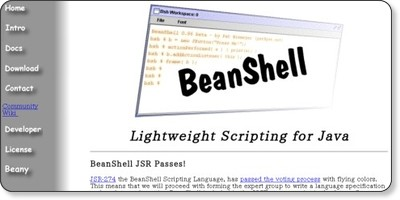 BeanShell - Lightweight Scripting for Java via kwout