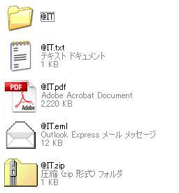 図1 アイコンを見てユーザーはファイルを判別する