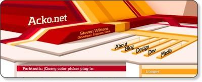 Farbtastic: jQuery color picker plug-in   Steven Wittens - Acko.net via kwout