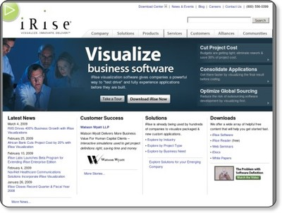 iRise, Cut Project Costs, Improve Application Consolidation and Improve Global Sourcing