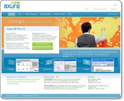Axure - Wireframes, Prototypes, Specifications