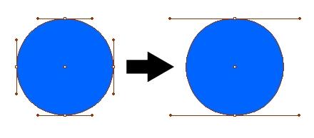 上図のように円を描く場合でも、通常4点で描くところを2点で描くなどの工夫が必要