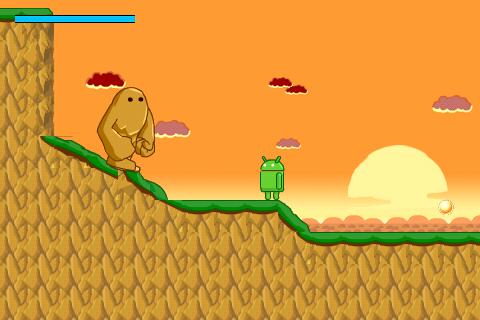 図2 プルエット氏作成中のAndroid用2Dゲーム