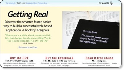 Getting Real: The Book by 37signals
